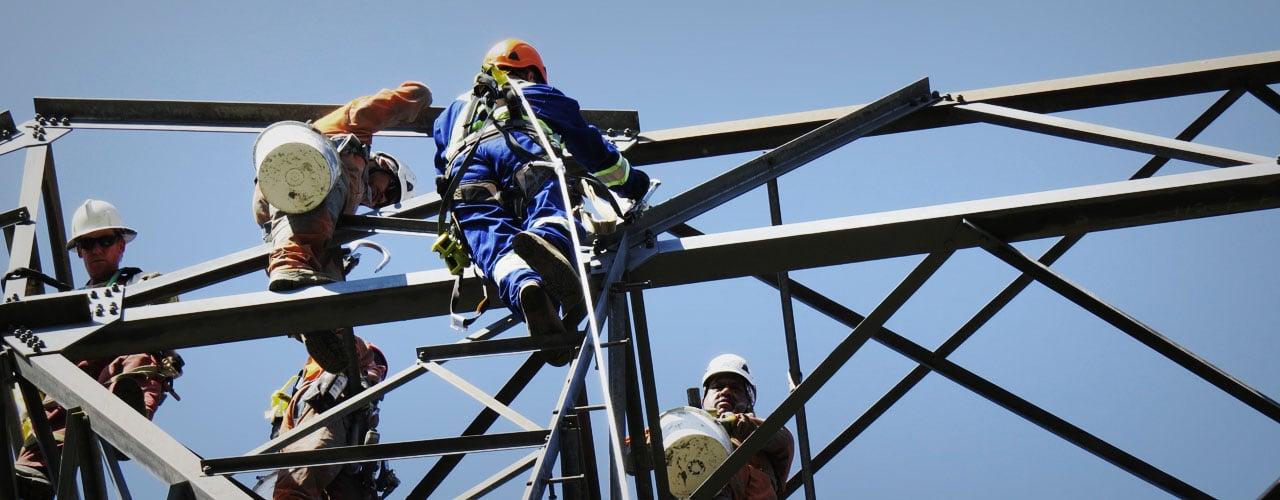 Tower Power climbing high heights